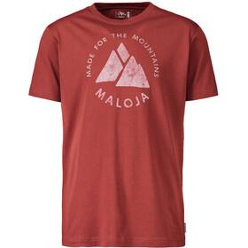Maloja NeirM. T-Shirt Heren, maroon